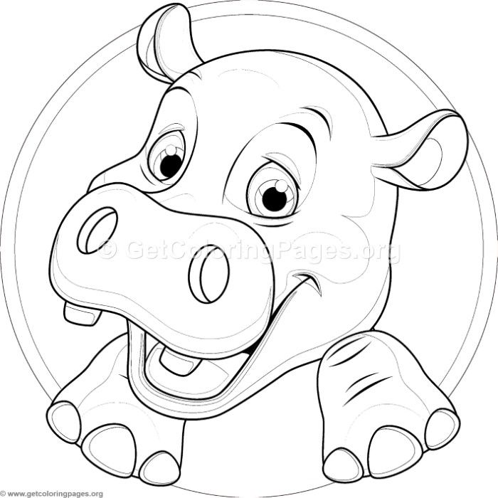 Cute Baby Hippo Coloring Pages Coloring Pages Doodle Art Free Coloring Pages
