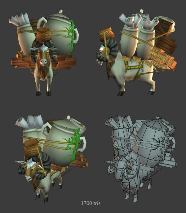 Babylonian caravan in Age of Empires Online, by 3d Artist Ryan Sharr, Gas Powered Games #AoEO