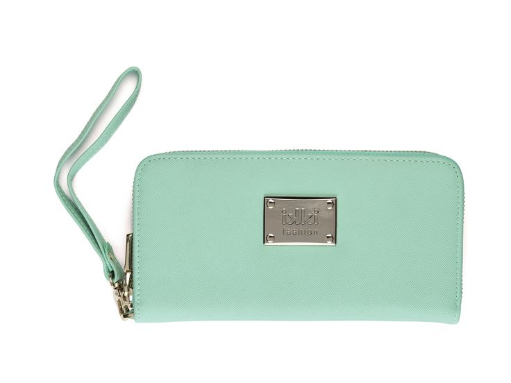 mint, menthe, mintgroen, mintblauw, green, blue, groenblauw, pastel, goud, ikki fashion, portemonnee, purse, leather