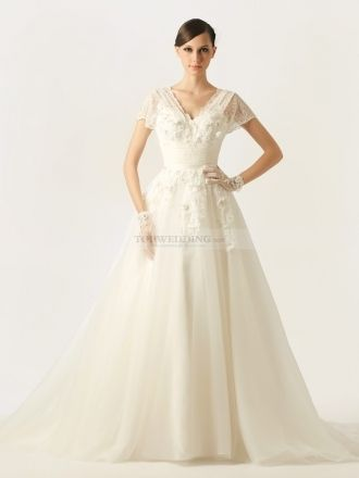 Good Quality Batwing Wedding Dress