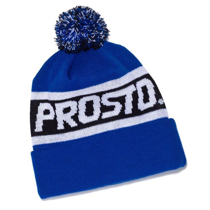 Czapka Zimowa PANEL ROYAL BLUE Damska ciepła zimowa czapka, posiada pompon i wywijany panel.