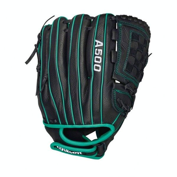 Wilson Siren 12-in. Right Hand Throw Fastpitch Softball Glove ($45) ❤ liked on Polyvore featuring black