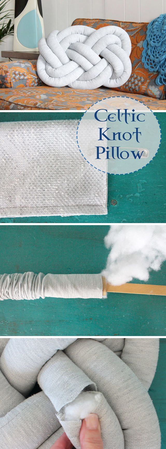 This unique tutorial from eHow shows you step-by-step how to create a knot pillow that will give new life to any chair or couch. Click in to see the complete tutorial.