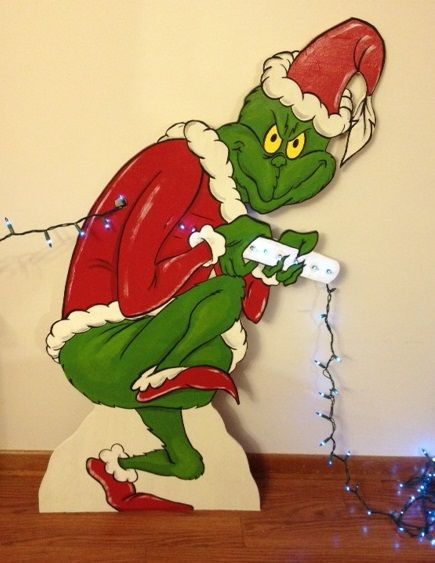The grinch christmas house decoration