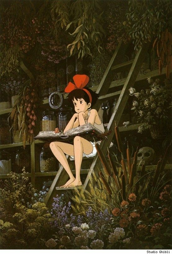 Kiki's Delivery Service - story of an inspirational little witch who loses the ability to fly but gets back on her broom.