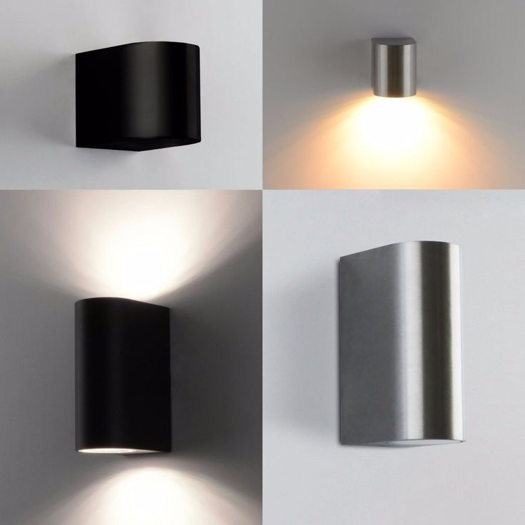Details Zu Außenleuchte Wandleuchte Aussenlampe LED Wandlamp UpDown  Edelstahl Optik 1267Alu