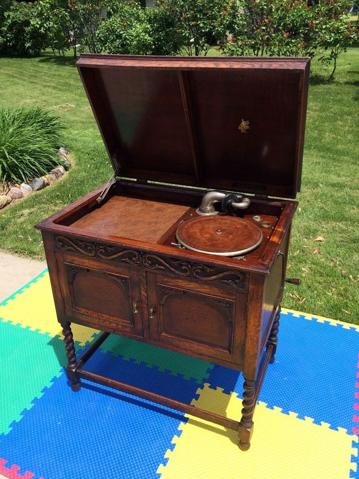 WORKS GREAT-ANTIQUE 20s APOLLO PHONOGRAPH GRAMOPHONE TURNTABLE+TIGER OAK  CABINET #ApolloGEJackson | Pinterest | Phonograph and Vintage records - WORKS GREAT-ANTIQUE 20s APOLLO PHONOGRAPH GRAMOPHONE TURNTABLE+