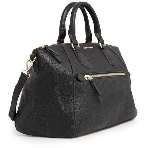 MANGO Pebbled tote bag   ❤ liked on Polyvore (see more zip tops)