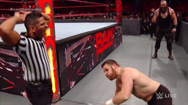 The Monster Among Men Braun Strowman is clearly in his element in this Last Man Standing Match against Sami Zayn on WWE Raw...
