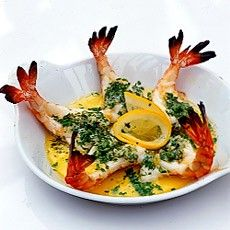 Roasted Butterflied Tiger Prawns in Garlic Butter