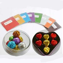8 cm (3.14 inch ) Multicolored Colorful Aluminum Foil Wrapper Printing Tin Foil Food Chocolate Candy Paper Packaging Sheet(China)