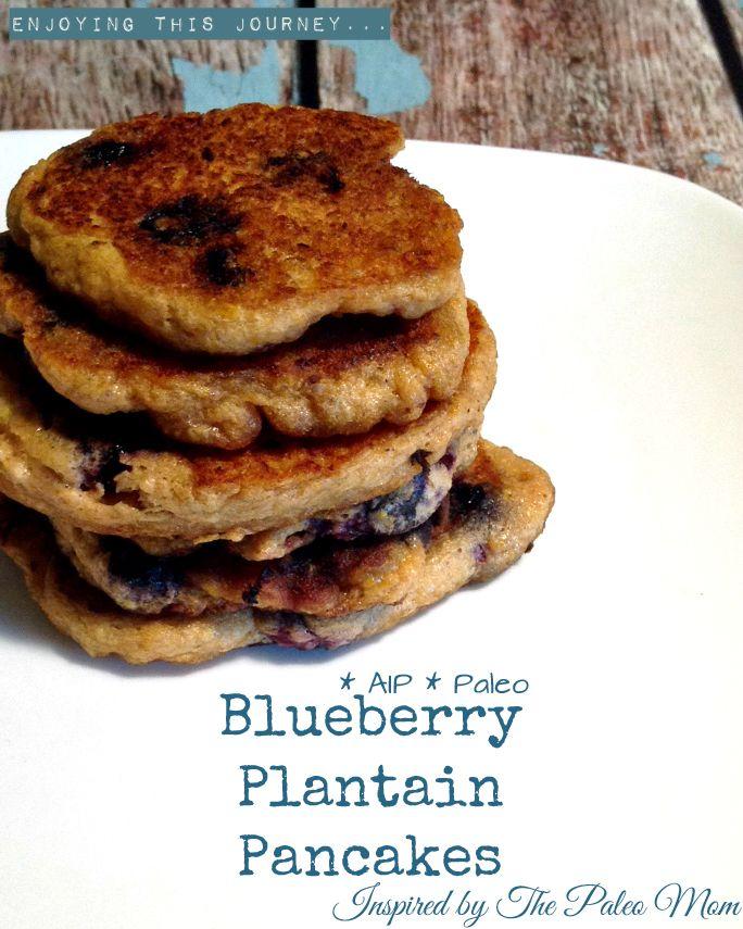 Blueberry Plantain Pancakes #AIP #autoimmuneprotocol #paleo | Enjoying this Journey...
