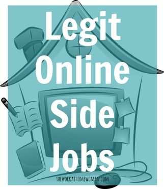 Legit Online Side Jobs | The Work at Home Woman