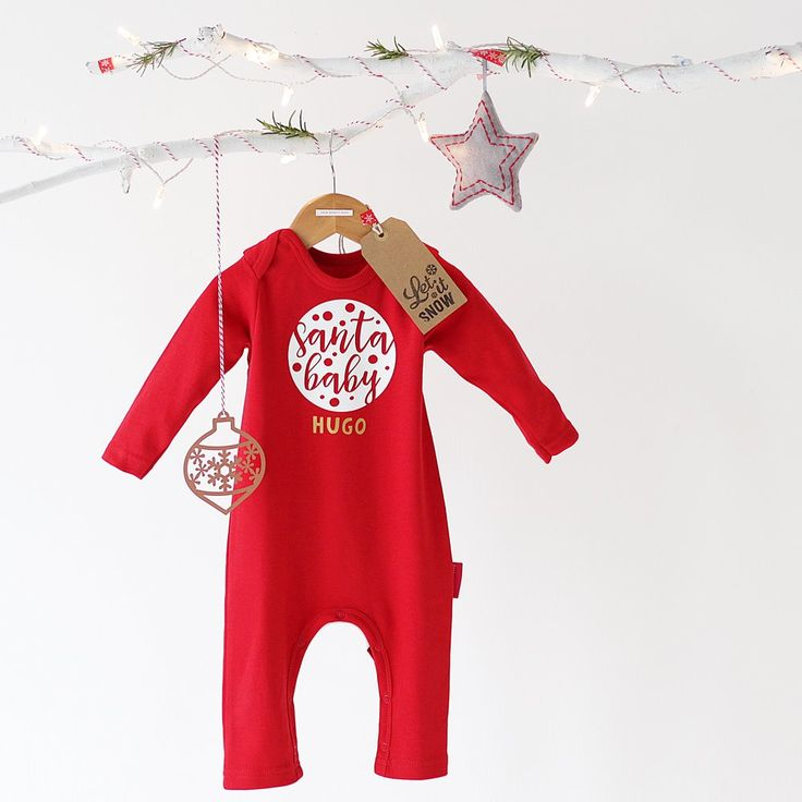 Have a look at our Personalised Santa Baby Romper.