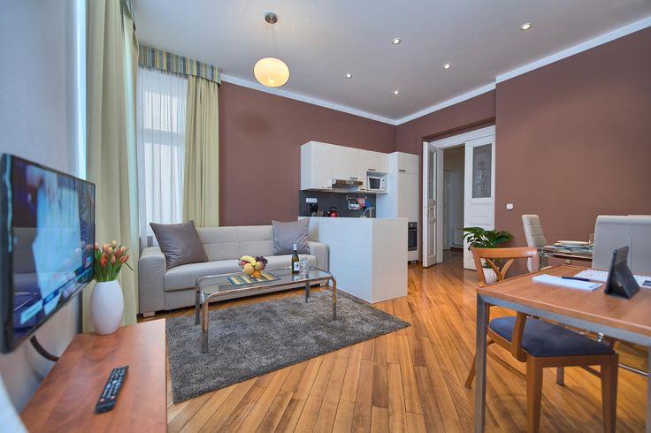 Supercute living are of a studio apartment x1 in Residence Masna, two blocks from the Old Town Square!  #apartment #design #interior #interiordesign