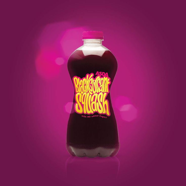 Squash. Packaging. Fruit juice. Typography. hand drawn lettering. Blackcurrant. Designed by White is Black.