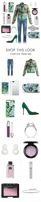 """Flowers everywhere"" by theodor44444 ❤ liked on Polyvore featuring rag & bone, Dolce&Gabbana, Apple, Christian Louboutin, Christian Dior, Fallon, MAC Cosmetics, Gucci, Morgan Lane and NARS Cosmetics"