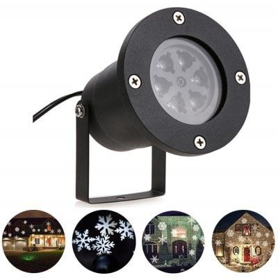 YouOKLight YK2281 1PCS 12W Holiday Decoration Waterproof Outdoor LED Cool White Stage Lights LED Christmas Laser Snowflake Projector Lamp AC 100-240V only $19.99