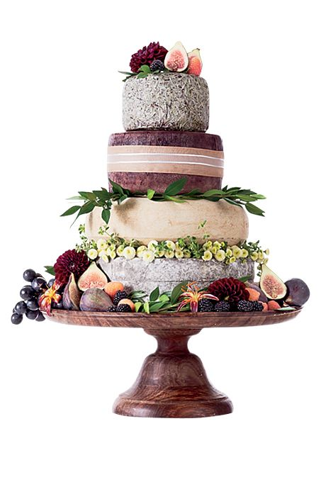 "Brides.com: The Most Creative Wedding Cakes of the Year. Murray's Cheese, New York, NY. Let's be real: There is no better way to end a vineyard wedding than with the ultimate cheese course. Custom cheese ""cake,"" $250, Murray's Cheese See more alternative wedding cakes."