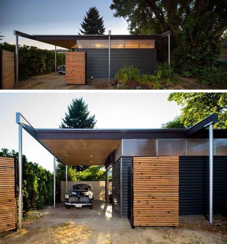 Enlargement wood house of a studio called Sauterelle