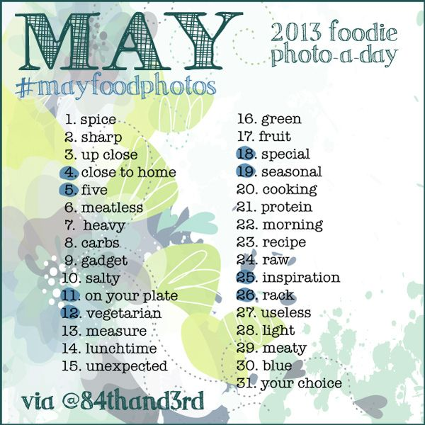 instagram challenge may photo challenge the food photo