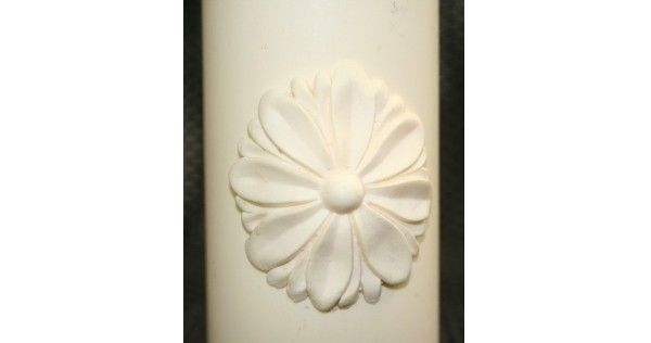 Daisy Rozette Fondant Candle Mold - Most designs are held in stock. Should you require a mold that is out of stock, we can pour a fresh one in less than 24 hours. If you require multiples of one design, we will tell you at the time of order the exact day your molds will be posted.