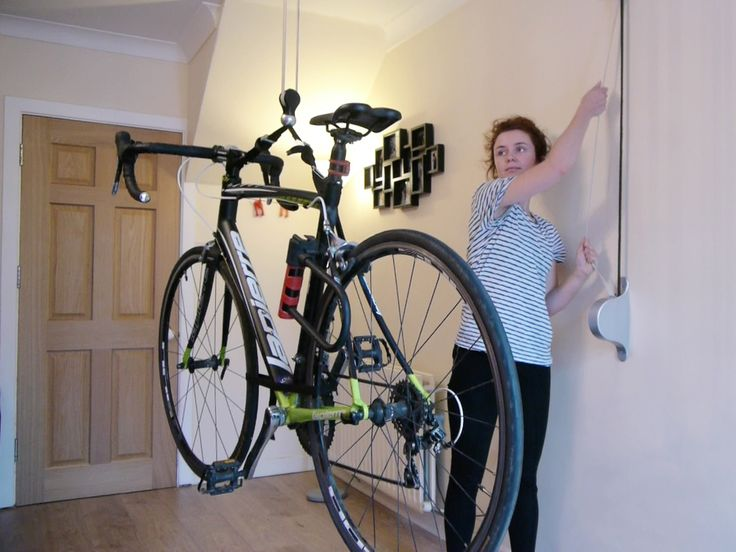 Stowaway - bike storage system for limited space.