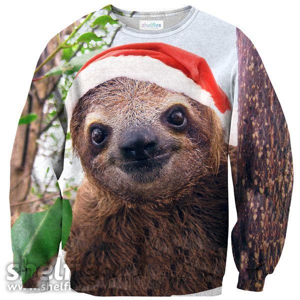 Christmas Sloth Sweater – Shelfies