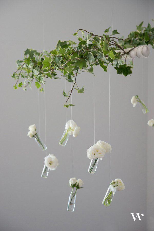 DIY Wedding Wednesday: Mini Bottle Vase Overhang