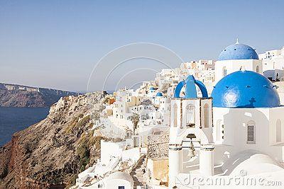 Blue domes of Oia #oia #santorini #greekvillage #greece #bluedomes