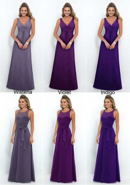 Purple Bridesmaid Dress Lots Of Variations Wisteria Indigo Violet Alisonjanebridal Co Uk Wedding Maybes Pinterest