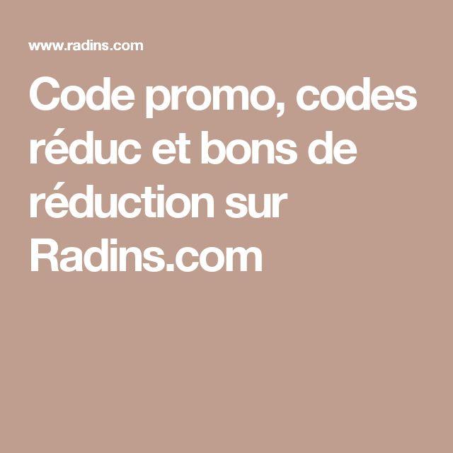 Code promo, codes réduc et bons de réduction sur Radins.com