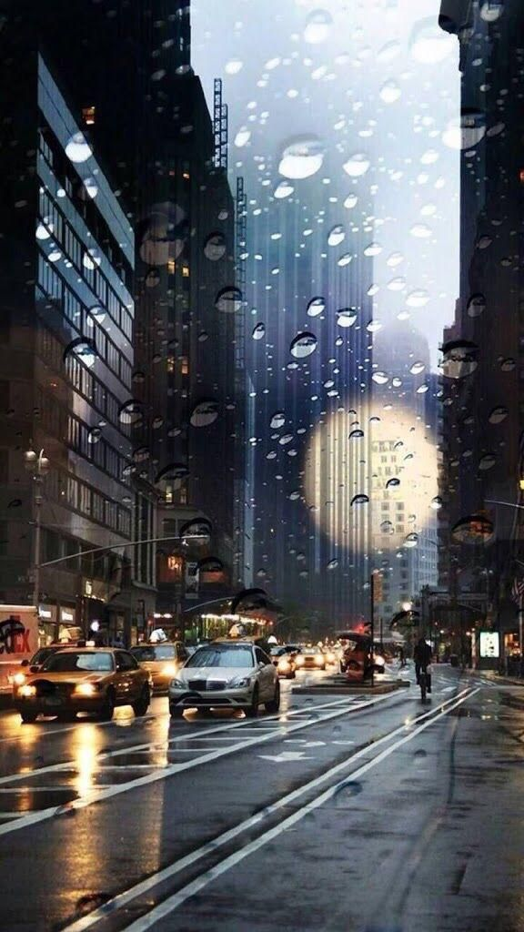 Iphone X Background City Rain Awesome Wallpapers Pc8 Org In 2019