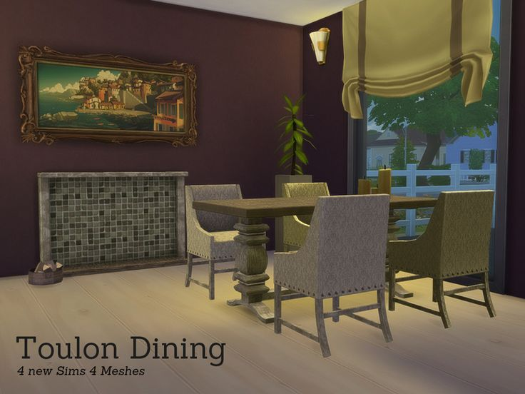 The Toulon Diningroom, Now Also Available For Sims Found In TSR Category  U0027Sims 4 Dining Room Setsu0027