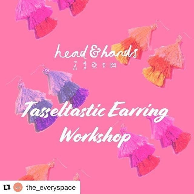 Cool ! Via @simplecandleco were so excited that @headandhands_ are running a tassel-tastic earring making workshop at our Gift Market @c_parade_e17 on 7th March. 2 sessions limited spaces so booking in advance is advisable directly through their website #handmadegifts #workshops #jewellerymaking @succulencelondon @soapsmithlondon @the_everyspace @simplecandleco #e17 #e17designers #e17 #centralparade #WALTHAMSTOW #e10 : @simplecandleco