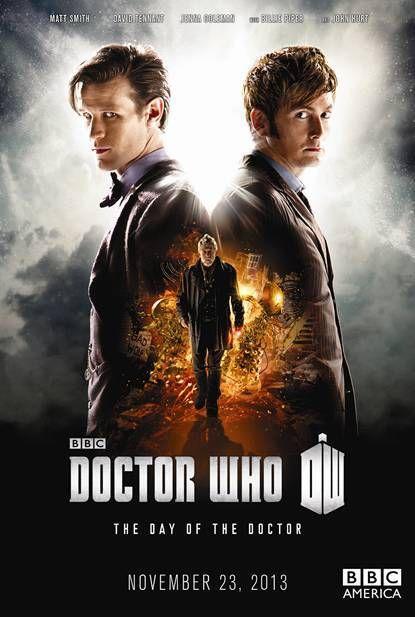 With Matt Smith, David Tennant, Christopher Eccleston, John Hurt. The 50 th anniversary episode is now on Netflix. Yay!!!