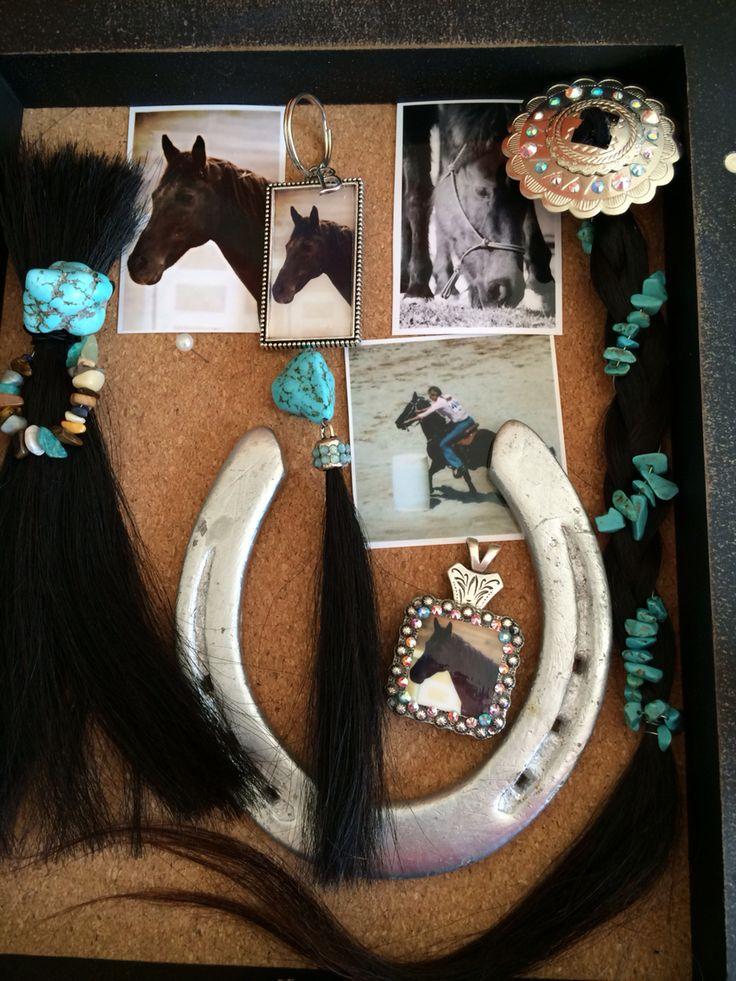 Horse memento shadow box