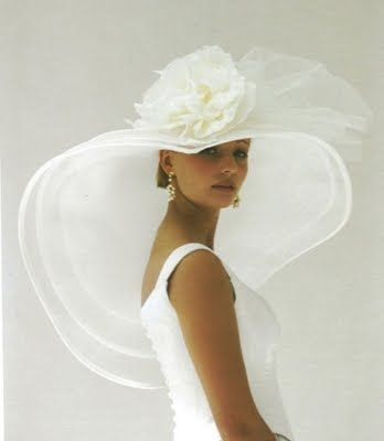 THE CHAPEAU VEIL - Hybrids...  mean combos between hat and veil... French designer, Catherine Alhinc ...Tip of the day: To carry these off in the best light your dress or ensemble should be streamlined and free of mass adornment -