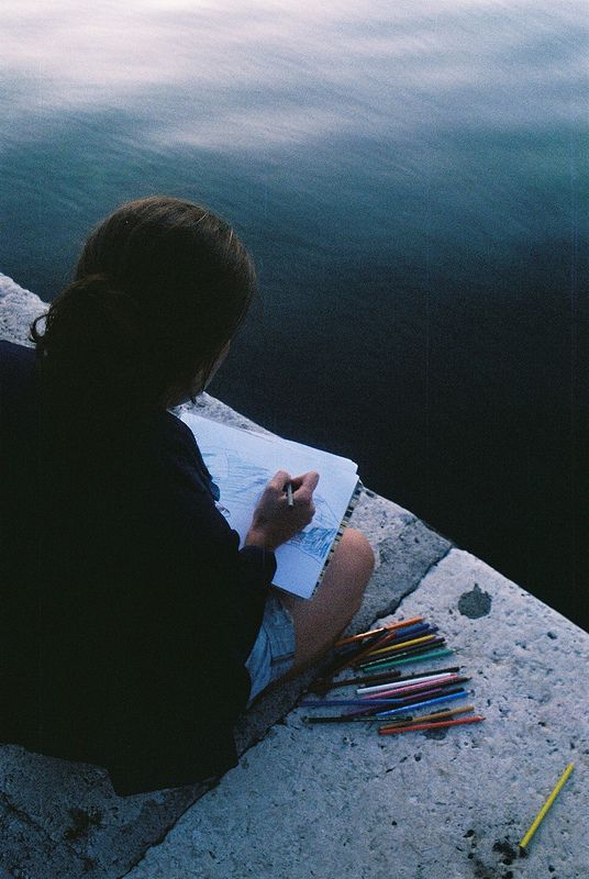 Sometimes a pencil will roll off the rock & fall into the raging ocean, and I'll just sit there for a moment and stare resignedly into the blue abyss, trying to accept the unexpected loss of yet another colorful piece of my life.