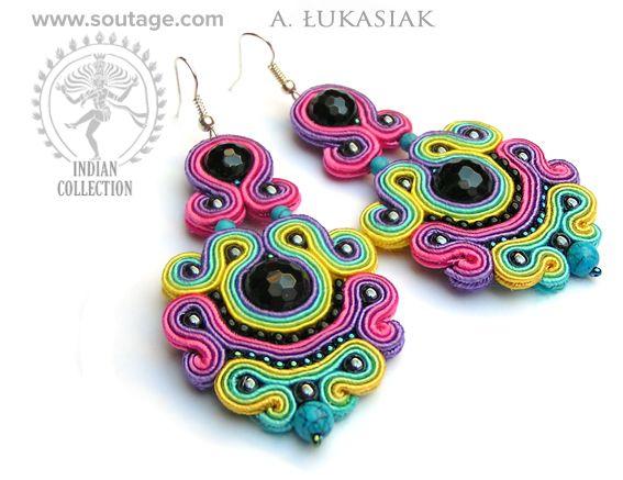 Indus - soutache earrings by Sutasz-Anka http://www.soutage.com/2015/01/indus-kolczyki.html