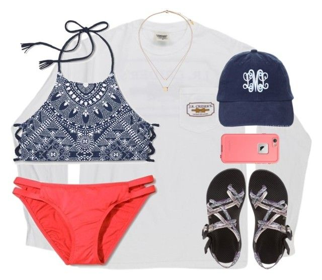 """I really like this top"" by kaley-ii ❤ liked on Polyvore featuring Mossimo, Chaco, Topshop and LifeProof"