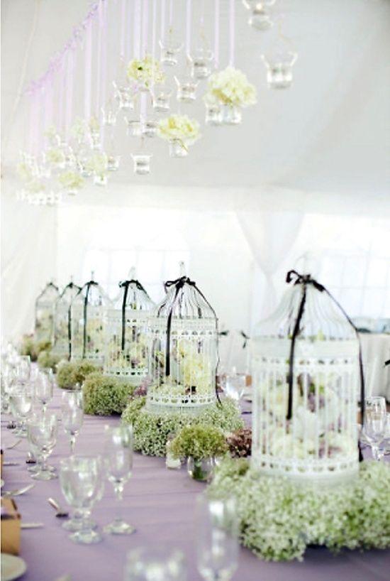 Black and white bird cage centerpieces for wedding i do