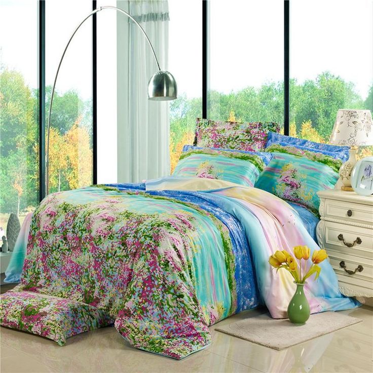 17 best images about emma 39 s bedroom on pinterest trees - Hot pink and blue bedding ...