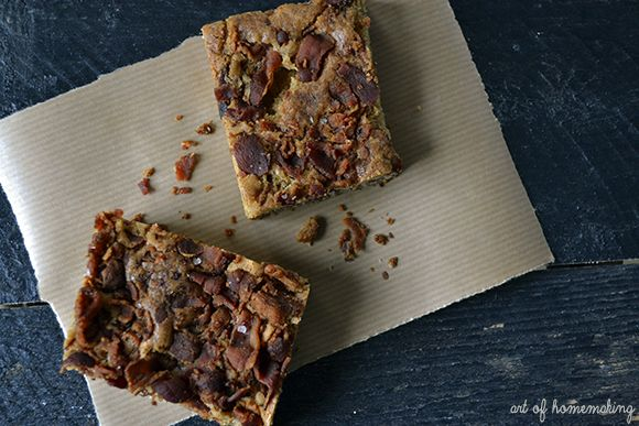 The Art of Homemaking: Bourbon Bacon Blondies~ and an Applegate ...