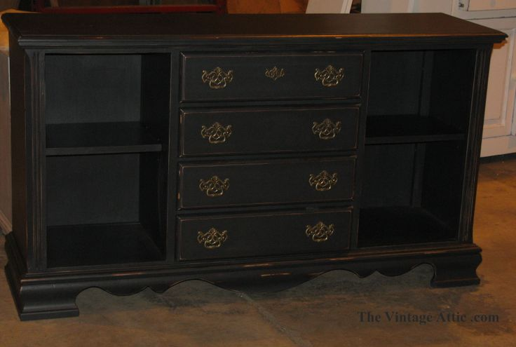 This Buffet is painted with CeCe Caldwell's Paints in Beckley Coal and sealed with satin finish.
