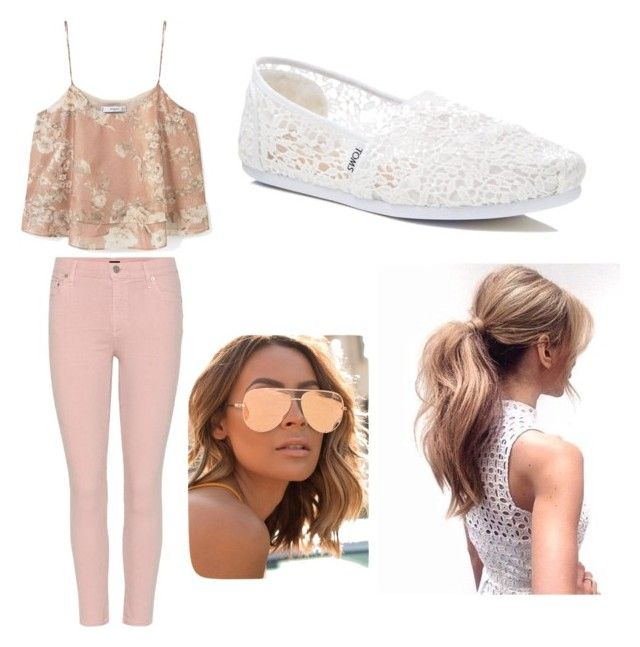 Summer beach walk by londonkat on Polyvore featuring polyvore, mode, style, MANGO, Citizens of Humanity, TOMS, Quay, fashion and clothing