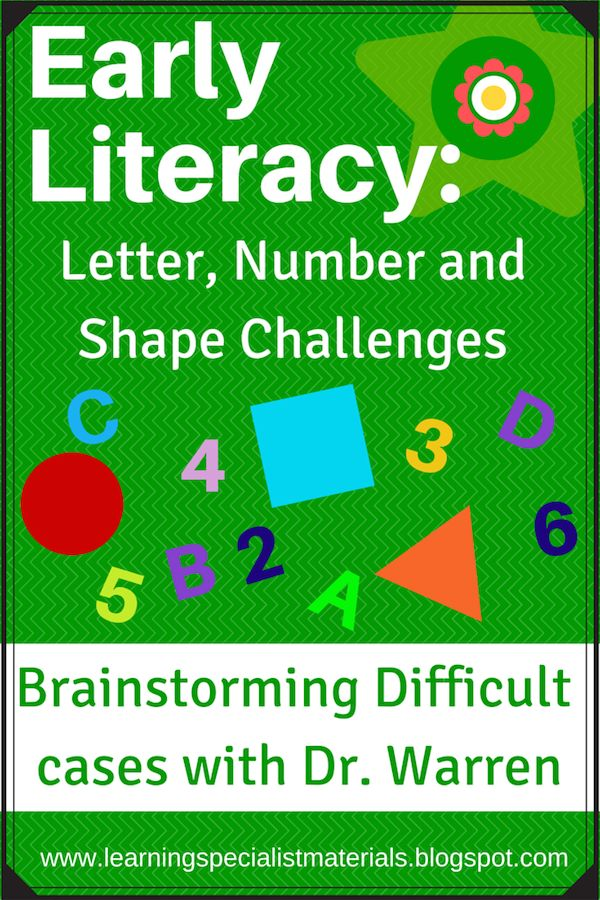 Early Literacy Letter Number And Shape Challenges