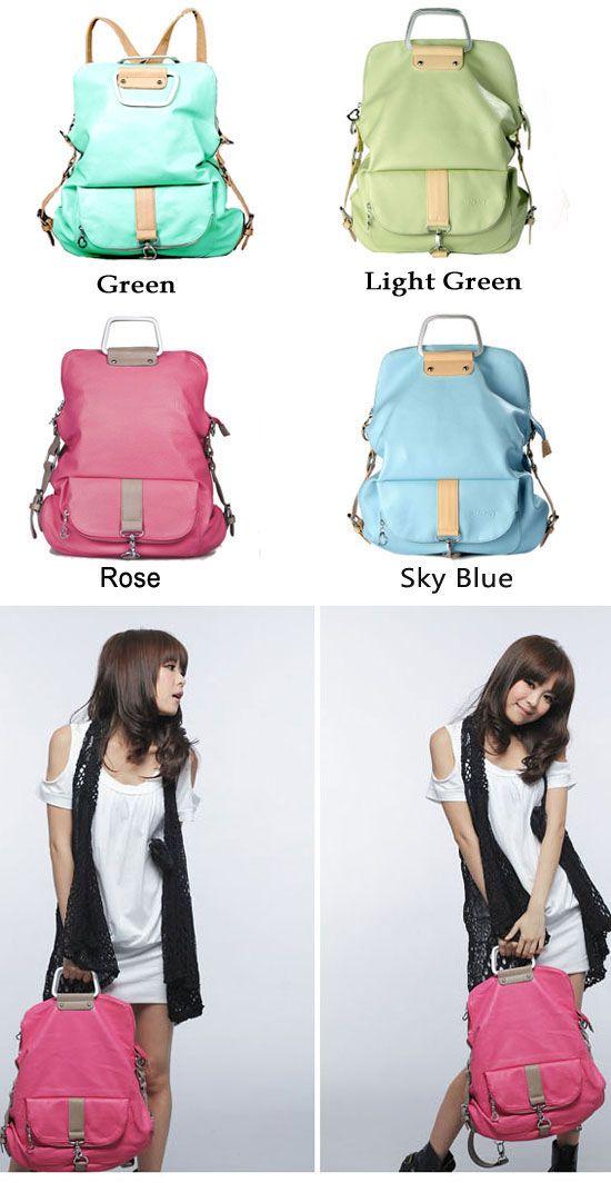 Which color do you like for this magic backpack ? Unique Fresh Multifunction Backpack & Handbag & Shoulder Bag #backpack #school #college #handbag #magic