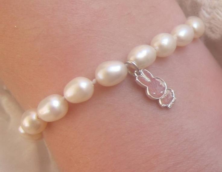 Perfect cadeau voor haar eerste verjaardag: Kinder armband 'Snow white' met écht (,925) zilver NIJNTJE $17