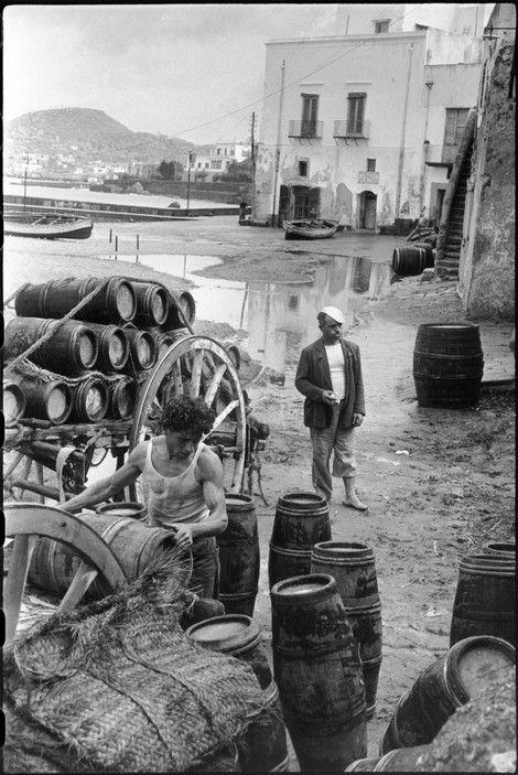 Magnum Photos - Henri Cartier-Bresson // ITALY. Campania. Ischia. Forio. 1952.